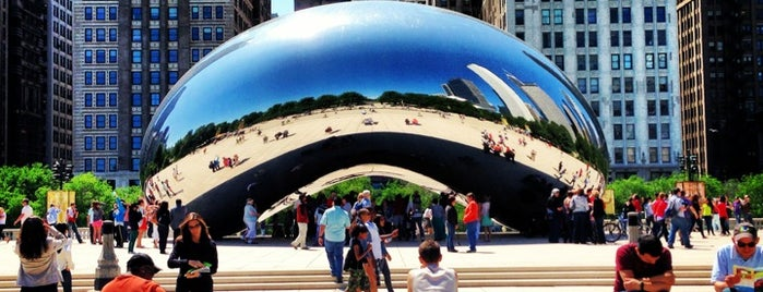 Millennium Park is one of Chi-Town.