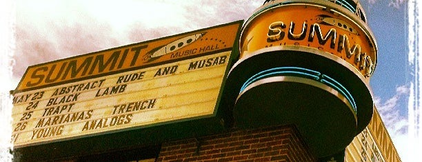 Summit Music Hall is one of Denver-To-Do List.