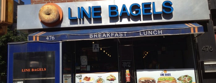 Line Bagels is one of สถานที่ที่ James ถูกใจ.
