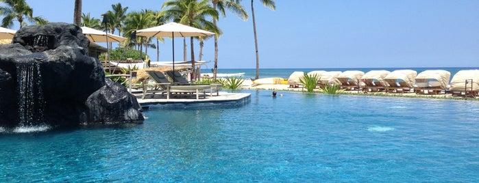 Four Seasons Resort Hualalai at Historic Ka`upulehu is one of Condé Nast Traveler Platinum Circle 2013.