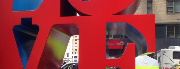 LOVE Sculpture by Robert Indiana is one of NYC Food, Drinks, Culture & Entertainment.