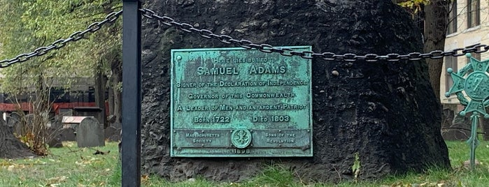 Grave of Samuel Adams is one of Boston, MA.