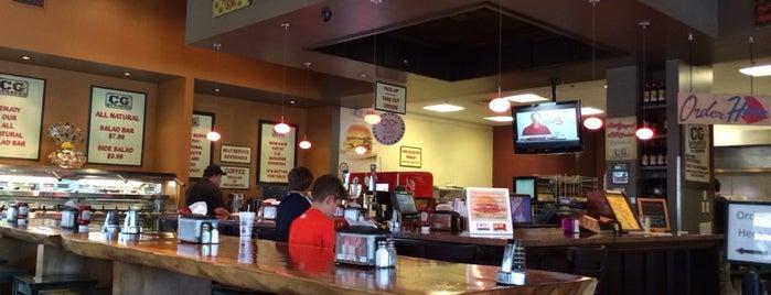 CG Burgers is one of สถานที่ที่บันทึกไว้ของ Brandy.