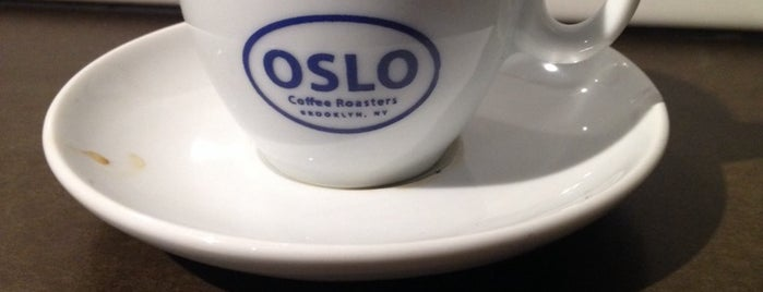 Oslo Coffee Roasters is one of NYC coffee shops to try.