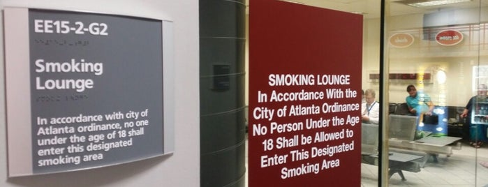 Smoking Lounge is one of Smoking lounges in airports.