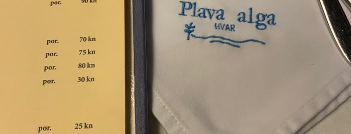 Plava Alga is one of Hvar.
