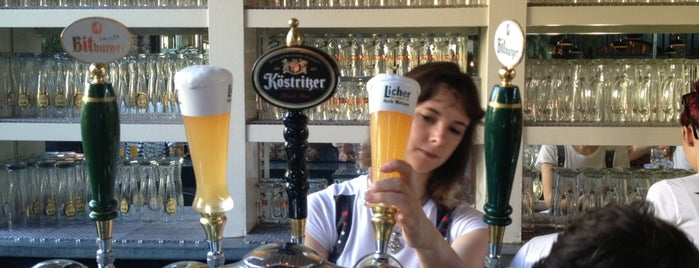 The Biergarten at The Standard is one of bars to check out..