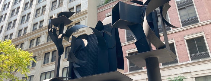 Louise Nevelson Plaza is one of NYC Downtown.