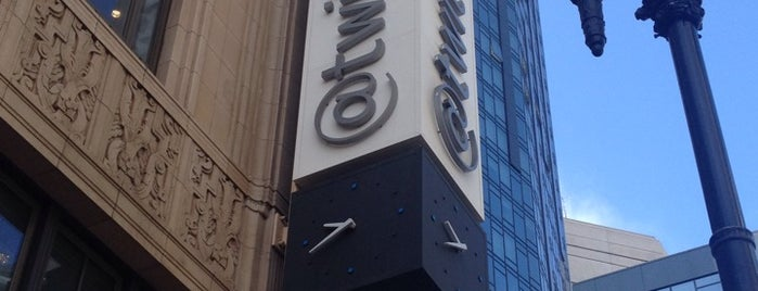 Twitter HQ is one of San Francisco Bay.
