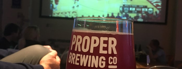 Proper Brewing Company is one of Tempat yang Disukai Whit.