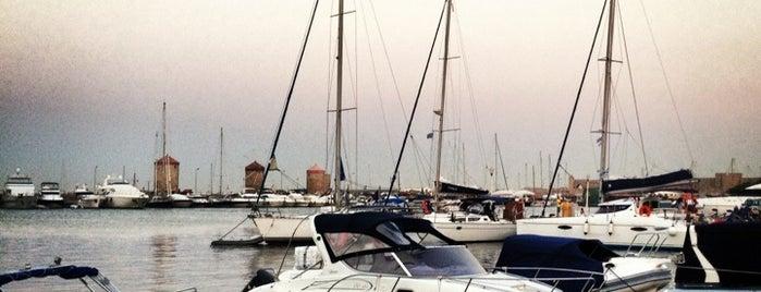 Mandraki Harbour is one of Rhodes.