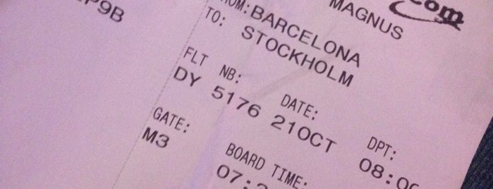 DY5176 Stockholm / Norwegian is one of Bcn.