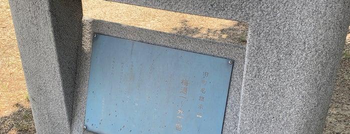 旧町名継承碑「梅通一〜九丁目」 is one of 旧町名継承碑.