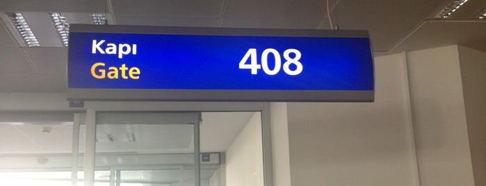Gate 408 is one of İstanbul Atatürk Airport.