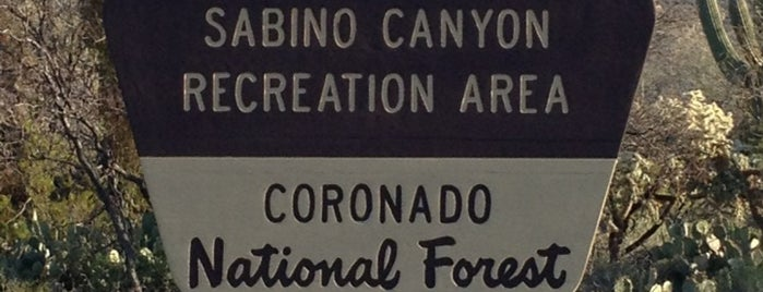 Sabino Canyon Recreation Area is one of Tucson. AZ.