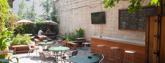 Sycamore Flower Shop + Bar is one of The 15 Best Bars with Backyards in NYC.