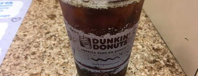 Dunkin' Donuts is one of The 17 Best Iced Coffee Drinks in NYC.