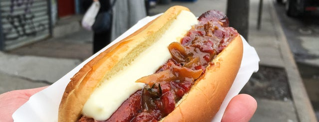 Huertas is one of The 11 Best Hot Dogs In NYC.
