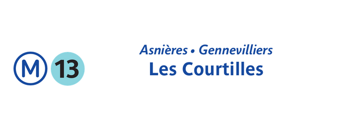 Métro Asnières • Gennevilliers — Les Courtilles [13] is one of Went before.