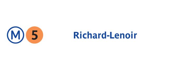 Métro Richard-Lenoir [5] is one of Went before.