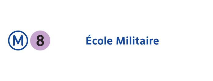 Métro École Militaire [8] is one of Paris: husband's hometown ♥.