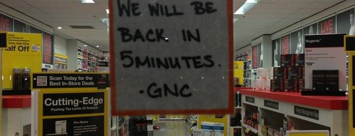 GNC is one of สถานที่ที่ John ถูกใจ.
