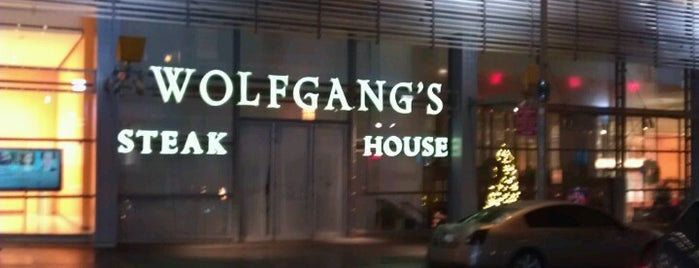 Wolfgang's Steakhouse is one of NYC spots.