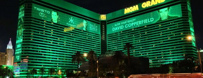 MGM Grand Hotel & Casino is one of Tempat yang Disukai Andrew.