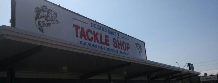 Oceans East 2 Tackle Shop is one of Marine Supplies and Equipment.