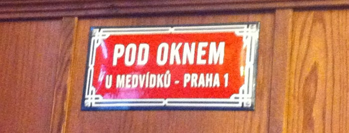 U Medvídků is one of Пражские пивные - рекомендации от DailyBeer.eu.