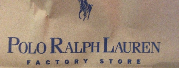 Polo Ralph Lauren Factory Store is one of Locais curtidos por Pablo.