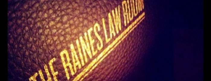 The Raines Law Room is one of Manhattan Favorites.