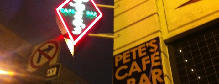 Pete's Cafe & Bar is one of DTLA local digs.