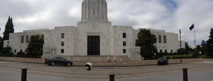 Oregon State Capitol Building is one of All Caps.