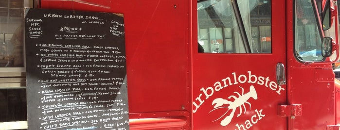 Urban Lobster Shack On Wheels is one of Food Truck Heaven NYC.