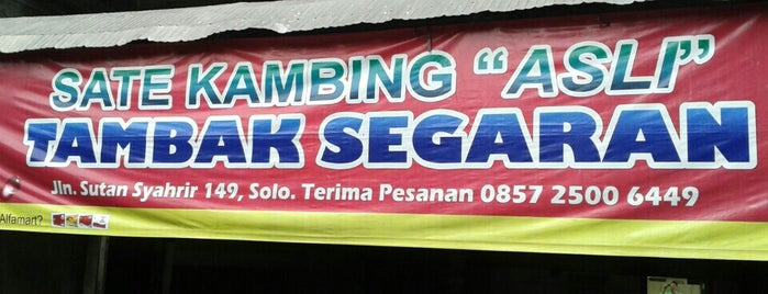 Sate Kambing Asli Tambak Segaran is one of Kuliner Solo.