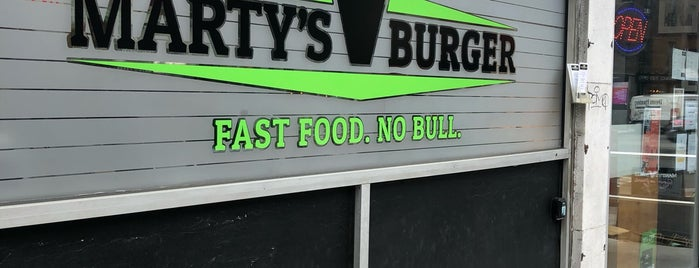 Marty's V Burger is one of Veg.