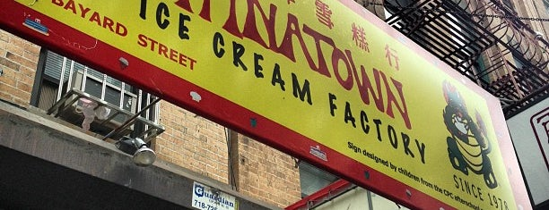 The Original Chinatown Ice Cream Factory is one of Sweet New York Times.
