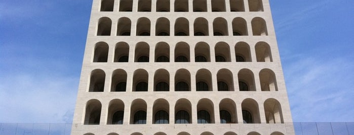 Palazzo della Civiltà e del Lavoro is one of Posti che sono piaciuti a Officine Creative.