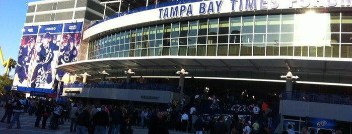 Amalie Arena is one of sports arenas and stadiums.