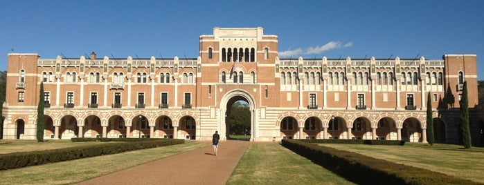 Rice University is one of Tempat yang Disukai Gregory.