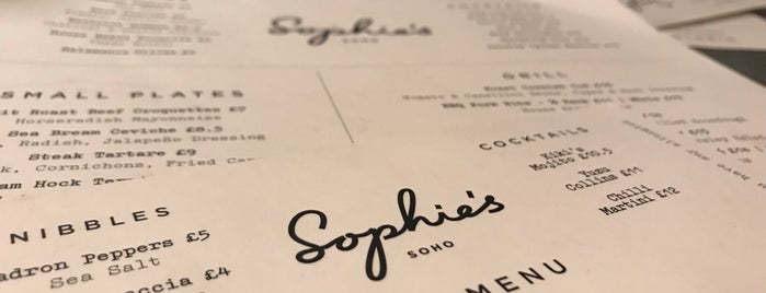 Sophie's is one of London I.