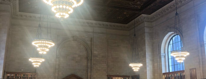 New York Public Library - Wertheim Study is one of Fernanda'nın Beğendiği Mekanlar.