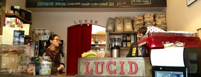 Lucid Cafe is one of Notable Coffee Shops (NYC).