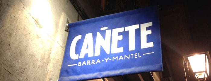 Cañete is one of Restaurantes de nivel en Barcelona.