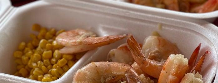 Fumi's Kahuku Shrimp is one of Hawai'i.