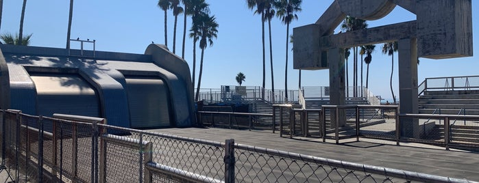 Muscle Beach is one of LA.