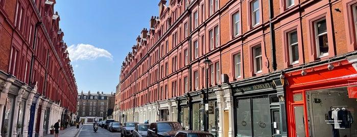 Chiltern Street is one of Marylebone, London.