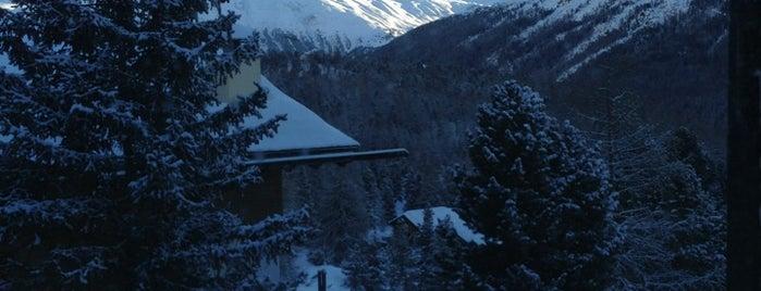 Suvretta House is one of Ritzy Glitzy St. Moritz.