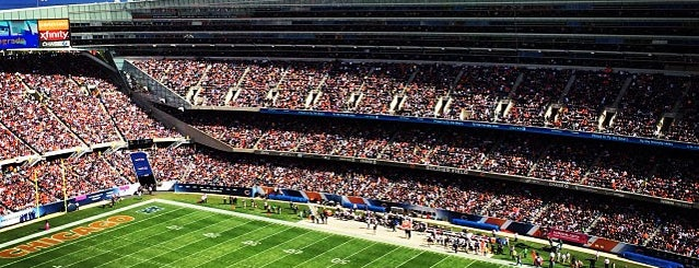 Soldier Field is one of sports arenas and stadiums.